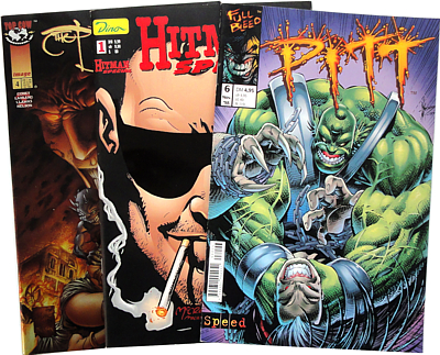 Dale Keown, Garth  Ennis, Marc  Silvestri, u.a. :: 3 Comic-Hefte (Pitt, Hitman Special, Tales of the Darkness) (Antiquariat Rostock)