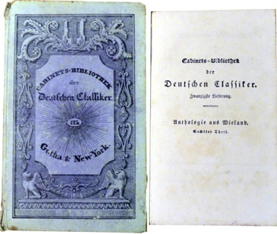 Christoph Martin Wieland :: Anthologie aus Wieland - 6. Theil (Antiquariat Rostock)
