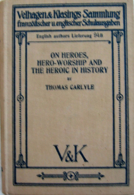Thomas Carlyle :: On heroes, hero-worship and the heroic in history (Antiquariat Rostock)